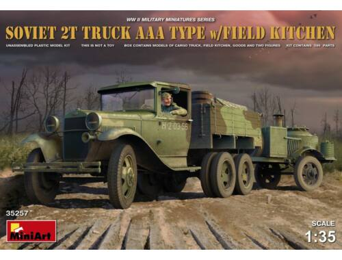 Miniart Soviet 2 t Truck AAA Type w/Field Kitche 1:35 (35257)