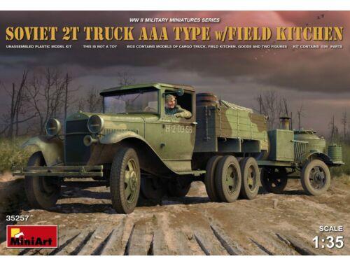 Miniart Soviet 2 t Truck AAA Type w/Field Kitche 1:35 (35257)