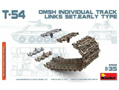 Miniart T-54 OMSh Individual Track Links Set. Early Type 1:35 (37046)