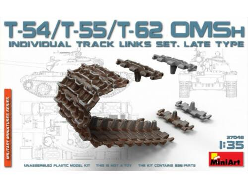 Miniart T-54/T-55/T-62 OMSh Individual Track Links Set.late Type 1:35 (37048)