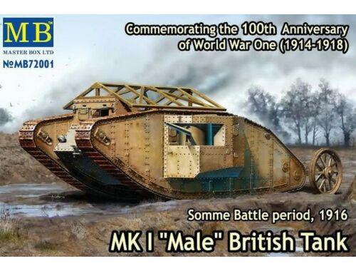 "Master Box Mk I ""Male""British tank,Somme battle1916 1:72 (72001)"