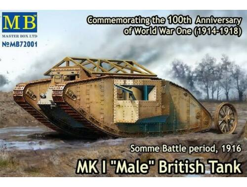 "Master Box Mk I ""Male""British tank,Somme battle1916 1:72 (72001)"