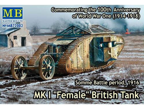 "Master Box Mk I""Female""British tank,Somme battle 1916 1:72 (72002)"