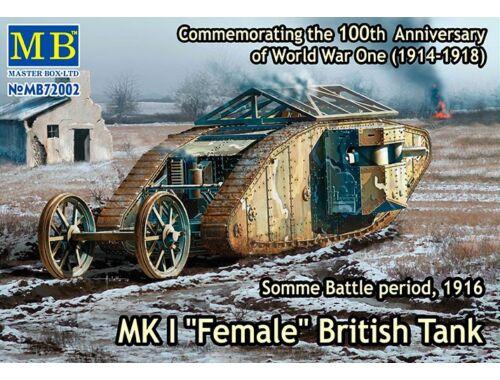 "Master Box Mk I""Female""British tank,Somme battle 1916 1:72 (72002)"
