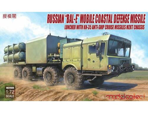 "Modelcollect Russian""Bal-E""mobile coastal defense missile Launcher w.Kh-35 anti-ship cruise 1:72 (UA"