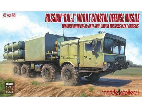 "Modelcollect Russian""Bal-E""mobile coastal defense missile Launcher w.Kh-35 anti-ship cruise 1:72 (UA"