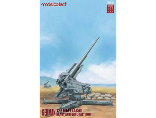 Modelcollect German 128mm Flak40 heavy Anti-Aircraft Gun 1:72 (UA72094)