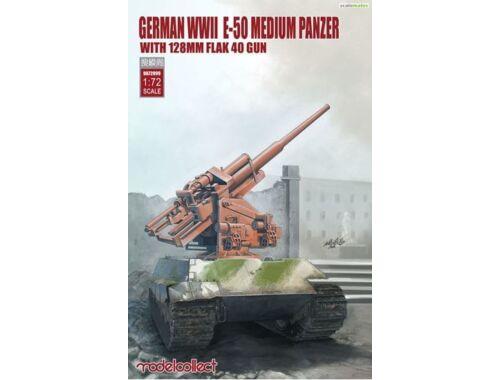 Modelcollect German WWII E-50 medium panzer w.128mm flak 40 gun 1:72 (UA72099)