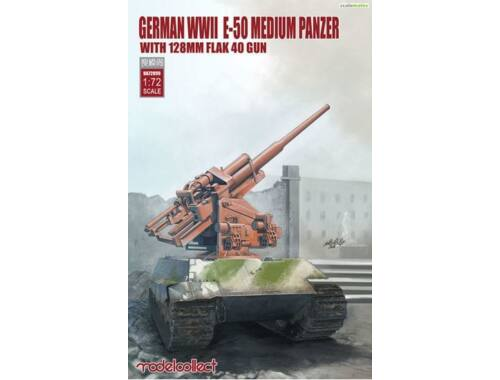 Modelcollect German WWII E-50 medium panzer w.128mm flak 40 gun 1:72 (UA72099)