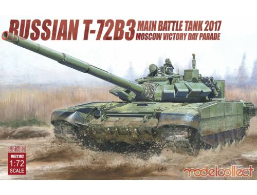 Modelcollect Russian T-72B3 Main Battle Tank 2017 Moscow Victory Day Parade 1:72 (UA72102)