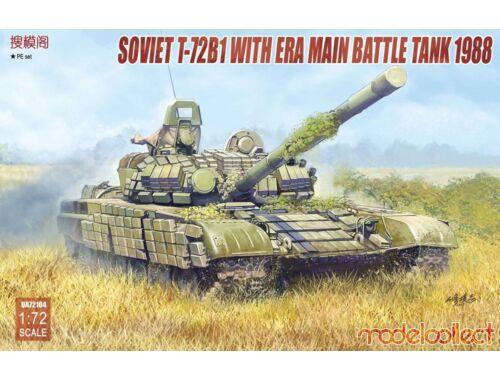 Modelcollect Soviet T-72B1 with ERA main battle tank 1988 1:72 (UA72104)