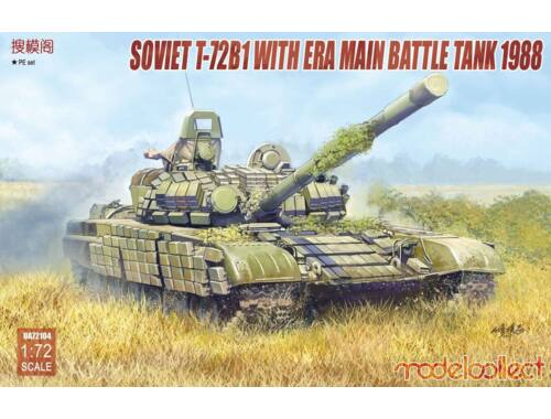 Modelcollect Soviet T-72B1 with ERA main battle tank 1988 1:72 (UA72104)