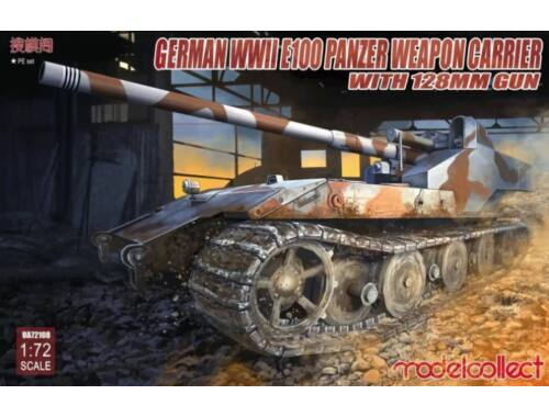 Modelcollect German WWII E-100 panzer weapon carrier with 128mm gun 1:72 (UA72108)