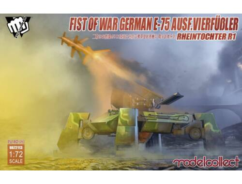 Modelcollect Fist of War German WWII E75 Ausf.vierfub Rheintochter 1 1:72 (UA72113)
