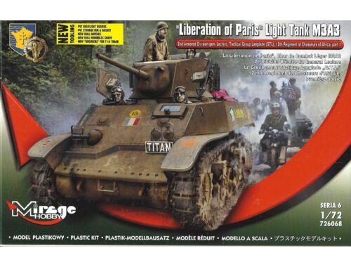 Mirage Hobby Liberation of Paris,Light Tank M3A3 1:72 (726068)