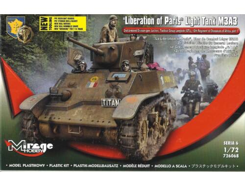 Mirage Hobby Liberation of Paris,Light Tank M3A3 1:72 (726068)