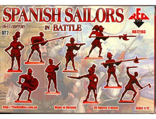 Red Box Spanish Sailors in Battle, 16-17th centu 1:72 (72103)