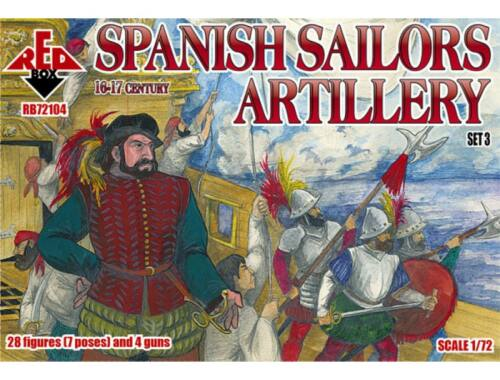 Red Box Spanish Sailor Artillery,16-17th century 1:72 (72104)