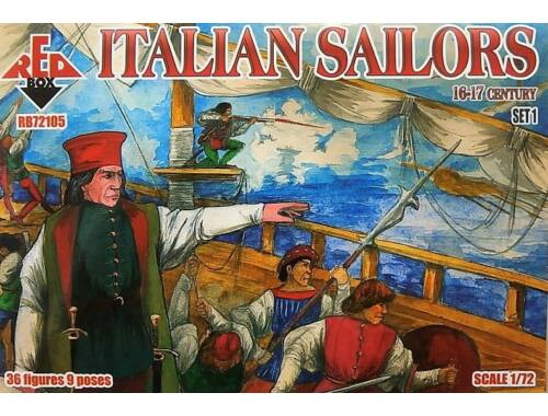 Red Box Italian Sailors, 16-17th century,set 1 1:72 (72105)