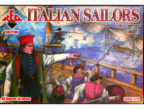 Red Box Italian Sailors,16-17th century,set 2 1:72 (72106)