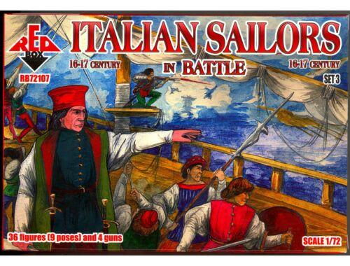 Red Box Italian Sailors in Battle,16-17th centur set 3 1:72 (72107)