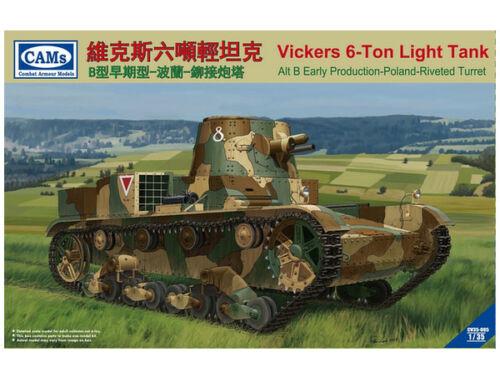 Riich Vickers 6-Ton light tank (Alt B Early-Poland-Riveted Turret 1:35 (CV35-005)