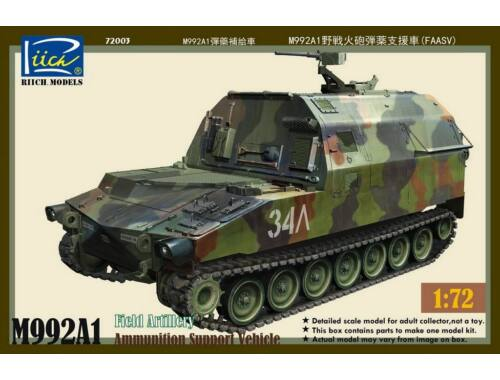 Riich M992A1 Field Artillery Ammunition Suppor Vehicle(FAASV) 1:72 (RT72003)