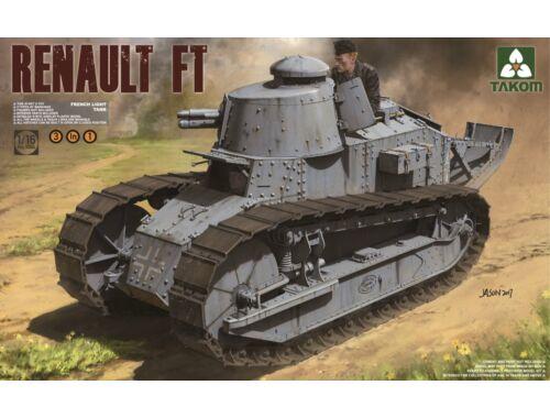 Takom French Light Tank Renault Ft-17 3in1 1:16 (1004)