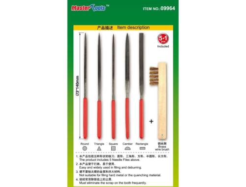 Trumpeter Master Tools Needle files set (Middle-Toothed 3x140mm) (9964)
