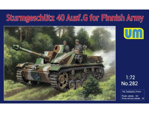 Unimodel Sturmgeschutz 40 Ausf.G for Finnish Army 1:72 (282)