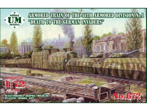Unimodel Armored train of the 48th armored divisionNo.1 1:72 (T672)
