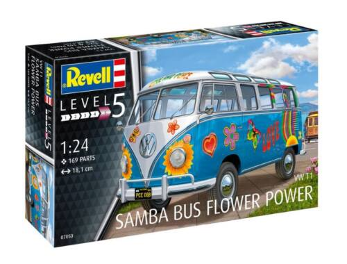 Revell VW T1 Samba Bus Flower Power 1:24 (7050)