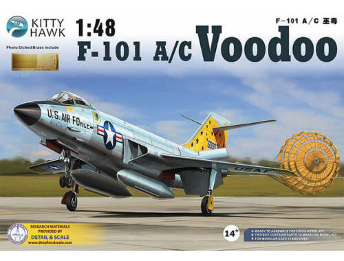 "Kitty Hawk F-101 A/C ""Voodoo"" 1:48 (KH80115)"