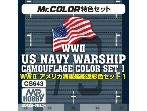 Mr.Hobby WW II Navy Warship Camoflage Color Set 1 CS-643