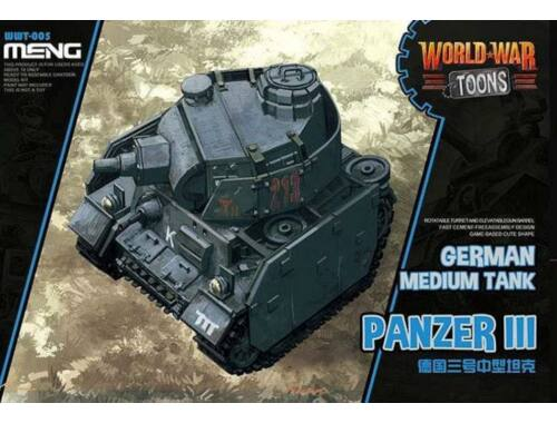 Meng German Tank Panzer III WW Toons Model (WWT-005)