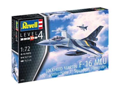 Revell F-16 Mlu 100th Anniversary 1:72 (3905)