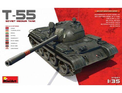 Miniart Soviet T-55 Medium Tank 1:35 (37027)