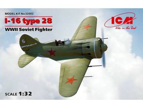 ICM Soviet Fighter I-16 type 28 1:32 (32002)
