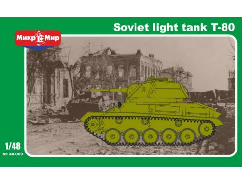 Micro Mir Soviet T-80 Light Tank 1:48 (48-009)