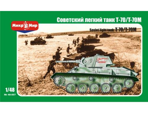 Micro Mir Soviet T-70/T-70M Light Tank 1:48 (48-007)