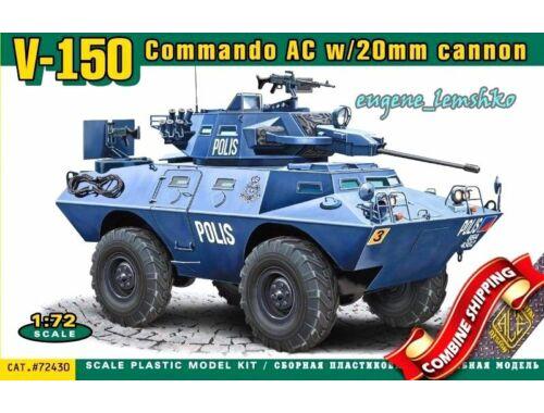 ACE V-150 Commando AC w:20mm cannon 1:72 (72430)