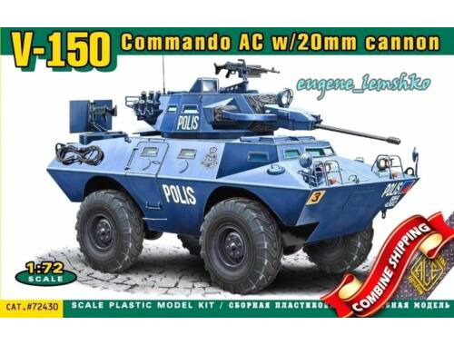 ACE V-150 Commando AC w:20mm cannon 1:72 (72430)