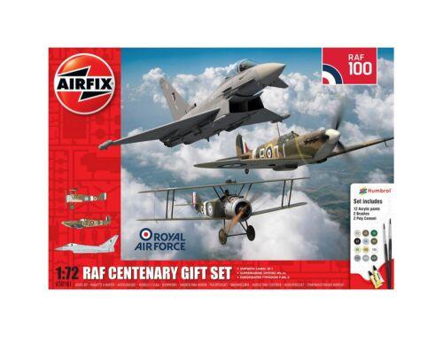 Airfix RAF Centenary Gift Set-Camel/Spitfire I/Typhoon 1:72 (A50181)