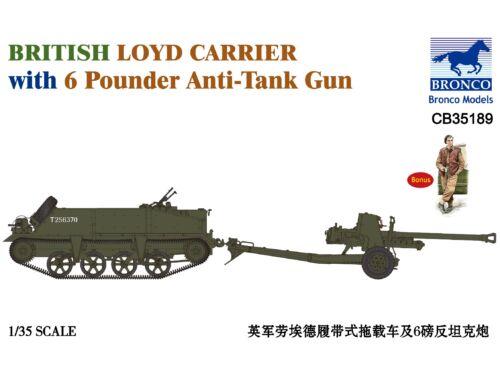 Bronco British Loyd Carrier with 6 Poundener Anti-Tank Gun 1:35 (CB35189)