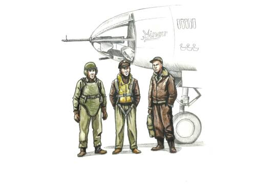 CMK WWII US bomber pilot and two gunners 1:72 (F72339)