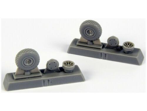 CMK P-40 Wheels – Diamond Tread for Special Hobby kits 1:72 (Q72295)
