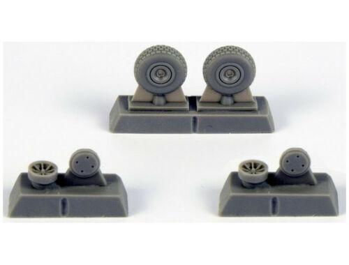 CMK P-40 Wheels – Block Tread for Special Hobby kit 1:72 (Q72296)
