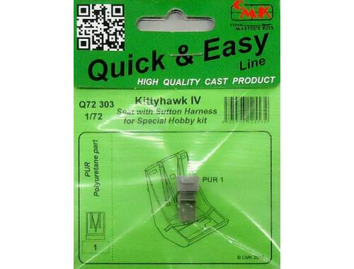 CMK Kittyhawk IV Seat with Sutton Harness for Special Hobby 1:72 (Q72303)