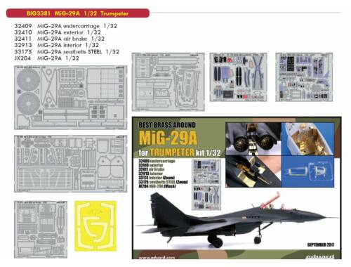 Eduard MiG-29A for TRUMPETER 1:32 (BIG3381)