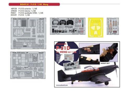 Eduard P-51D for MENG 1:48 (BIG49181)
